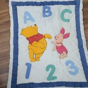 Vintage Winnie the Pooh crib Quilt